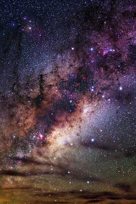 Milky Way Over The Atacama Desert Poster by Babak Tafreshi