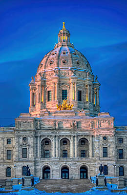 Minnesota State Capitol St Paul Poster