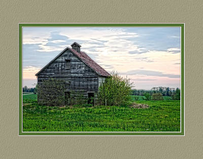 Missouri Barn At Sunrise Poster