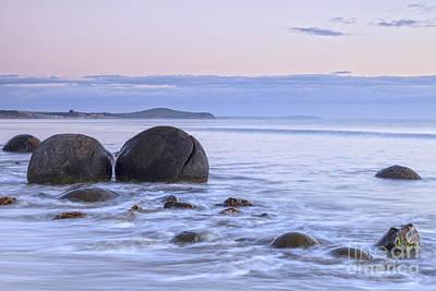 Moeraki Boulders Otago New Zealand Poster