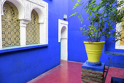 Morocco, Marrakech, Jacques Majorelle Poster by Emily Wilson