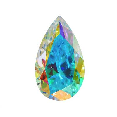 Mystic Topaz Gemstone Poster by Science Photo Library
