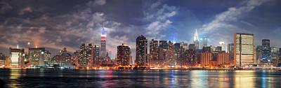 New York City Manhattan Midtown At Dusk Poster
