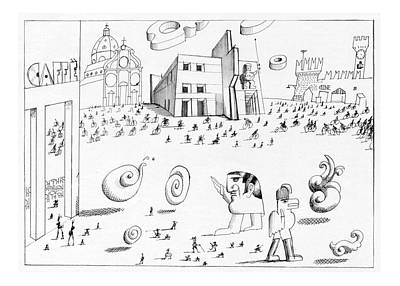 New Yorker October 7th, 1974 Poster by Saul Steinberg