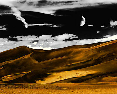 Night At The Great Sand Dunes Poster