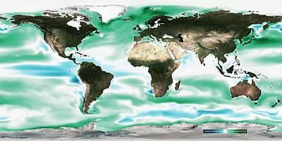 Ocean-atmosphere Co2 Exchange Poster by Noaa
