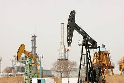 Oil Field In Daqing Poster by Ashley Cooper