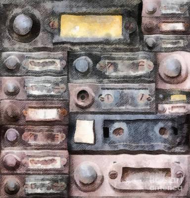 Old Doorbells Poster by Michal Boubin