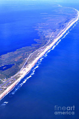 Outer Banks Aerial Poster by Thomas R Fletcher
