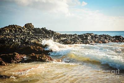 Paako Beach Makena Maui Hawaii Poster by Sharon Mau