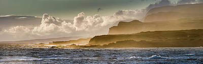 Panoramic Of Molokais North Shore Sea Poster by Richard A Cooke Iii.