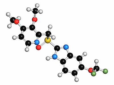 Pantoprazole Gastric Ulcer Drug Molecule Poster