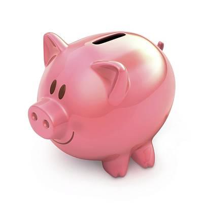 Piggy Bank Poster by Ktsdesign
