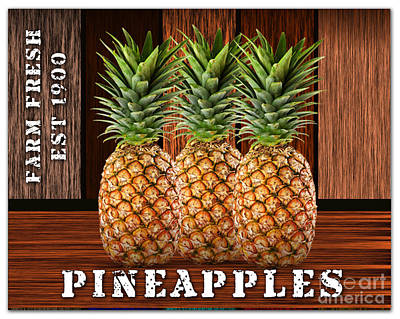 Pineapple Farm Poster by Marvin Blaine