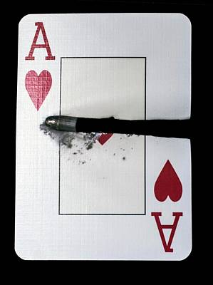 Playing Card Trick Shot Poster by Herra Kuulapaa � Precires
