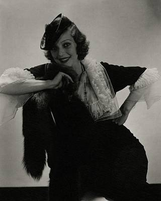 Portrait Of Loretta Young Poster by Edward Steichen