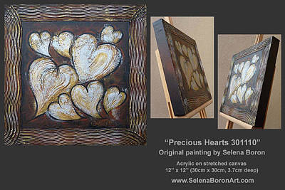 Poster featuring the painting Precious Hearts 301110 by Selena Boron
