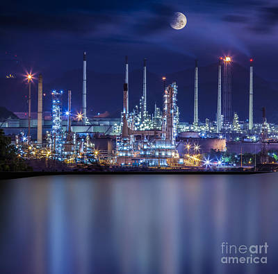 Refinery Industrial Plant  Poster by Anek Suwannaphoom