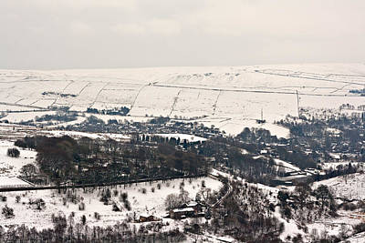 Remote Farmland On The Snow Covered Yorkshire Moors Poster by Ken Biggs