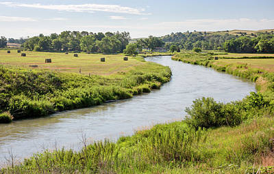 River In The Nebraska Sandhills Poster by Jim West