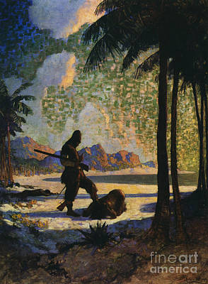Robinson Crusoe, 1920 Poster by Granger
