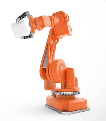 Robotic Equipment Poster by Andrzej Wojcicki