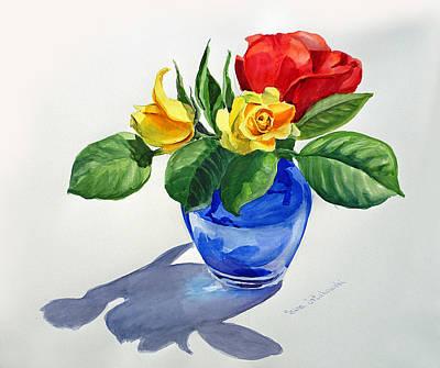 Poster featuring the painting Roses by Irina Sztukowski