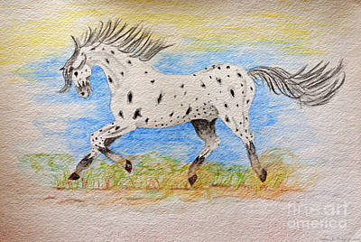 Running Free Poster by Debbie Portwood