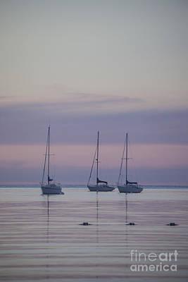 3 Sailboats Poster