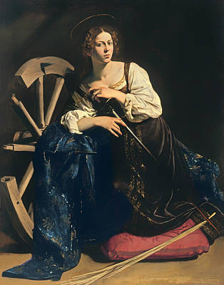 Saint Catherine Of Alexandria Poster by Mountain Dreams