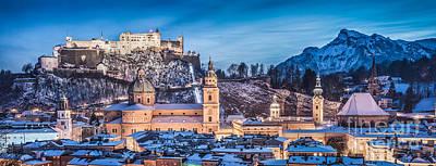 Salzburg Winter Romance Poster by JR Photography