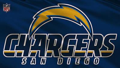 San Diego Chargers Uniform Poster by Joe Hamilton