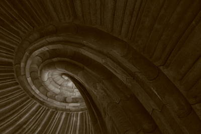 Sand Stone Spiral Staircase Poster by Falko Follert