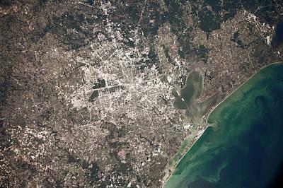 Satellite View Of Houston, Texas, Usa Poster