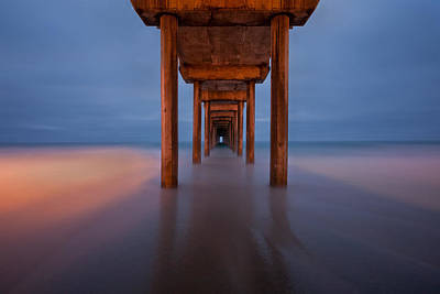 Scripps Pier Dusk Poster by Peter Tellone