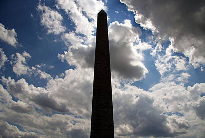Poster featuring the photograph Silhouette Of The Washington Monument by Cora Wandel