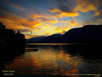 Poster featuring the photograph Skaha Lake Sunset by Guy Hoffman