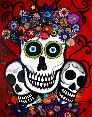 3 Skulls Poster by Pristine Cartera Turkus