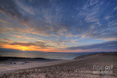 Sleeping Bear Dunes Sunset Poster by Twenty Two North Photography