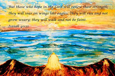 Soar On Wings Like Eagles... Poster by Amanda Dinan
