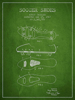 Soccer Shoe Patent From 1967 Poster