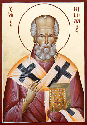 St Nicholas Of Myra Poster by Julia Bridget Hayes