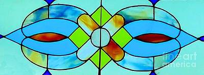 Poster featuring the photograph Stained Glass Window by Janette Boyd