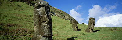 Stone Heads, Easter Islands, Chile Poster by Panoramic Images