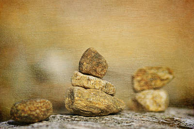 Stones On Canvas Poster