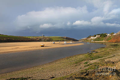 Poster featuring the photograph Storm Approaches The Gannel Estuary Newquay Cornwall by Nicholas Burningham