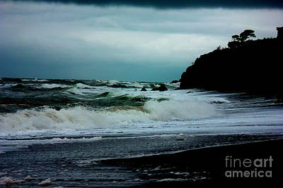 Stormy Seas At Night Poster