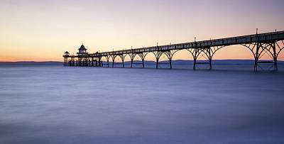 Stunning Landscape Image Of Old Pier Silhouette Against Vibrant  Poster by Matthew Gibson