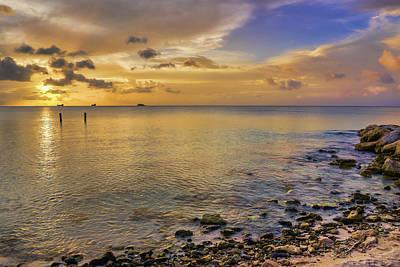 Sunset Over Dickenson Bay  St. John S Poster