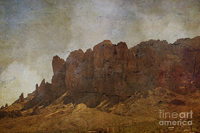 Superstition Mountains Poster by Beverly Guilliams